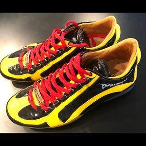 1964 DSquared 2 Multicolore Patent Men Sneakers